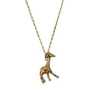 J. Crew Gold Tone Dainty Giraffe Charm Necklace